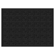 Outdoor Rug Square by Essential Home Indoor Outdoor Rug 36 X 48 Black