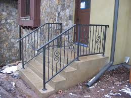 Banister Guard Home Depot Handrails For Stairs Exterior Wooden Handrail For Stairs