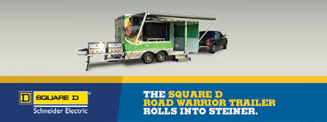 square d road warrior trailer rolls into steiner electric