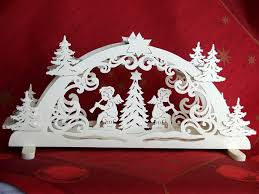 German Christmas Decorations Candles by Unique German Handmade Christmas Decoration Candle Arch Wood