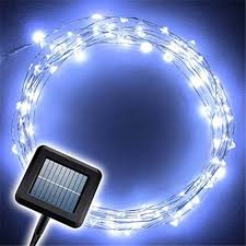waterproof christmas light connections 10m solar powered string lights 100 led copper wire lights
