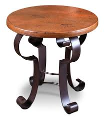 Copper Side Table Copper Side Table Round Copper Side Table