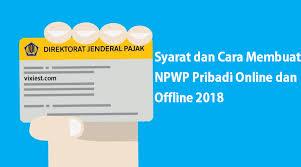 petunjuk membuat npwp online dddd png