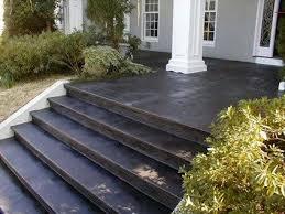 painted concrete porch floor white house dark stepssiteelite