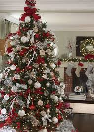 Elegant Christmas Decorations For Sale by Balsam Hill U0027s Red White And Sparkle Glitter Ribbon Tree