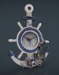 decorative clock anchor clock decorative 3d cgtrader