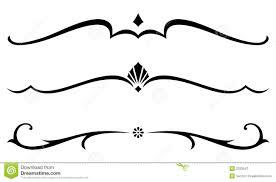 ornamental clipart decorative accent pencil and in color