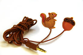 amazon com dci earbuds squirrel and nut headphone earbuds
