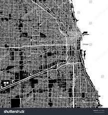 Map Downtown Chicago Chicago Illinois Downtown Vector Map City Stock Vector 718117888