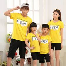 2015 new summer lovers clothes t shirts for lovers mom dad son