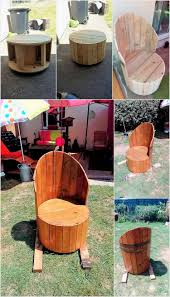 Made Armchair Diy Pallets And Cable Spool Made Armchair Pallet Wood Projects
