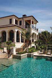 mediterranean style homes beautiful mansion photography sky water palm trees pool mansion