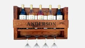 wine rack wine rack wall mounted personalized wine rack hand