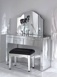 Folding Vanity Table Modern Bedroom Design With Tri Folding Vanity Mirror And Mirrored