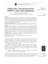 fdic examination manual politically exposed persons peps risks and mitigation pdf