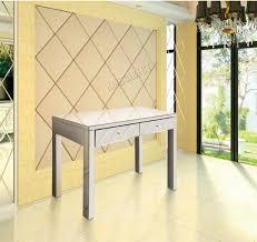 foxhunter mirrored furniture glass dressing table with drawer foxhunter mirrored furniture glass dressing table with drawer