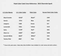 paint color code cross reference chevy spark member albums