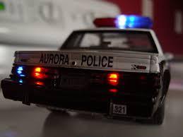 diecast aurora il police car