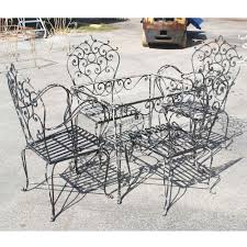 Wrought Iron Patio Table Set by Popular Vintage Wrought Iron Patio Furniture Prepossessing Dining