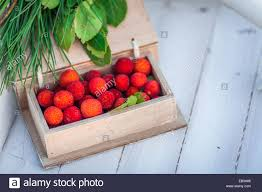 lychee fruit inside wooden box of lychee fruit stock photo royalty free image