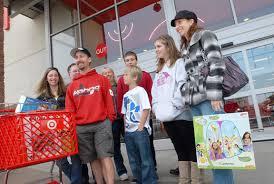 target black friday shopping residents enjoy black friday shopping