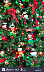 christmas tree decorations at the larcomar mall in miraflores