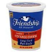Daisy Low Fat Cottage Cheese by Friendship Cottage Cheese Lowfat Large Curd Pot Style Calories