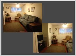 how to arrange furniture in a living room with two entrances