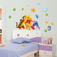 winnie the pooh bedroom animals cartoon winnie pooh home bedroom decals wall stickers for