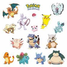 aliexpress com buy a set pikachu pokemon go waterproof