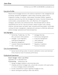 Executive Officer Resume Loan Officer Resume Resume For Your Job Application