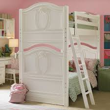 bedroom designs modern bunk beds white kids desk pink wall