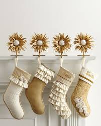 cute christmas stockings popsugar home photo 6 these champagne frost christmas stockings 120 122 have pale gold fabrics and delicate
