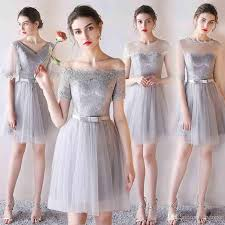 light gray bridesmaid dresses light gray bridesmaid dresses knee length soft tulle floral lace