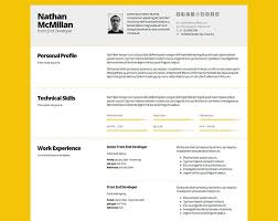 Template For A Professional Resume 50 Professional Html Resume Templates Web U0026 Graphic Design