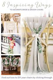 and groom chairs eight inspiring ways to decorate and groom chairs