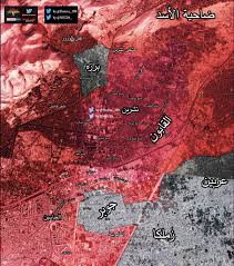 Map Of Al Latest Map Of East Damascus After Jihadists Surrendered Al Qaboun