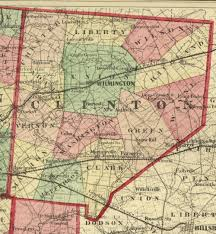 Ohio County Map by 1875 Map Of Clinton County Ohio