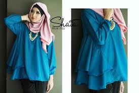 model baju muslim modern model busana muslim atasan yang modis nibinebu