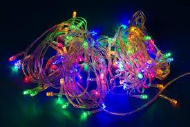 multicolored electric lights decorative festive garland