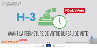 fermeture des bureaux de vote h 3 avant la fermeture de votre bureau de vote régionales 2015