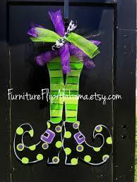 witch legs door hanger halloween door hanger witch legs wreath