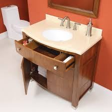 Art Deco Bathroom Sink Decolav Adrianna 36 Inch Dark Walnut Bathroom Vanity