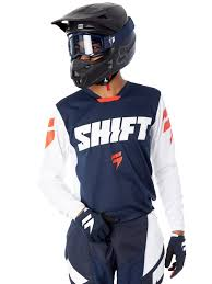 shift motocross helmets shift navy 2018 whit3 ninety seven mx jersey shift