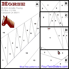 http www fourtwinsisters com quiltpatterns 2005 horse gif