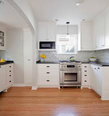 simply white paint with kitchen pass through kitchen traditional
