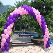 Balloon Arch Decoration Kit Aliexpress Com Buy 10 Poles Wedding Balloon Arch Kit Round Foil