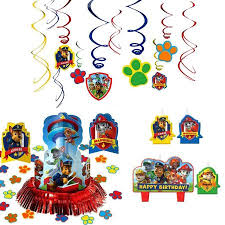 paw patrol party supplies pack decorations candle hanging