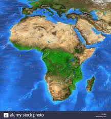 africa map landforms detailed satellite view of the earth and its landforms africa map