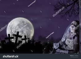 halloween theme horror scene corpse bride stock photo 113189248